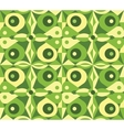 Abstract green geometrical seamless pattern vector image