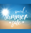 abstract summer sale poster vector image vector image