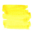abstract yellow brush stroke area watercolor vector image