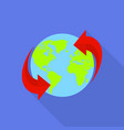 around the world icon flat style vector image
