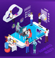 augmented reality isometric composition vector image