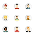Avatar people icons set flat style vector image vector image