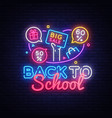 back to school discount sale concept vector image vector image