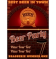 bar counter and cask of beer vector image vector image