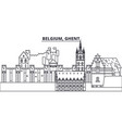 belgium ghent line skyline vector image vector image