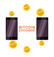 bitcoin exchange icon cartoon style vector image vector image