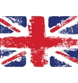 British flag grunge white