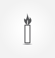 candle icon1 vector image