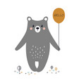 cartoon cute bear vector image