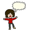 cartoon scared person with speech bubble vector image vector image
