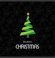 christmas card with pattern background dark vector image