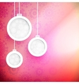 Christmas pink balls cut paper concept EPS10 vector image