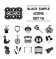 circus set icons in black style big collection vector image