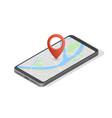 city map route navigation smartphone phone point vector image vector image