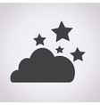 cloud stars icon vector image