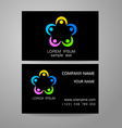 connecting people logo template vector image