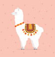cute drawn llama or alpaca vector image vector image