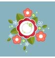 Decorative colorful floral composition vector image