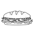Delicious fast food and gastronomy vector image