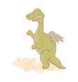 dino hungry prehistoric cartoon beast hand drawn i vector image