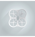 Flat icon for white quadrocopter vector image