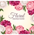Floral Realistic Background vector image vector image