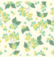 floral seamless pattern inflorescences on a light vector image