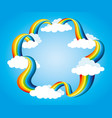 frame from rainbow and clouds vector image vector image