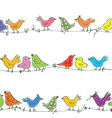 Funny birds seamless pattern - bright vector image