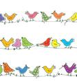 Funny birds seamless pattern - bright