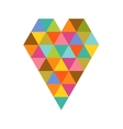 Geometric colorful heart for Valentines day vector image vector image