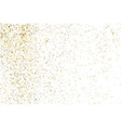 Gold glitter texture white rectangle vector image vector image