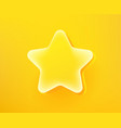 golden star emoticon 3d comic style editable vector image vector image