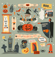halloween night party trick or treat october 31 vector image vector image