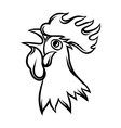 hand drawn black rooster on white vector image vector image