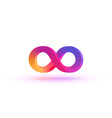 infinity symbol with color gradient art vector image