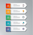 infographic arrow template with 5 options vector image vector image