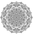 Intricate Black Mandala for Coloring vector image vector image