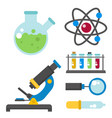 lab symbols test medical laboratory scientific vector image vector image