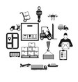 logistics simple icons vector image vector image