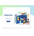 magazine website landing page design vector image vector image