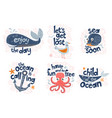 marine clipart collection vector image vector image