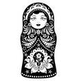 matryoshka on white background vector image