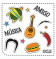 mexican party sticker applique mexico style vector image vector image