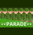 military soldier parade concept banner cartoon vector image