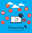 online education e-learning school concept vector image