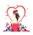 online love wedding composition vector image