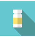 Plastic medicine bottle vector image