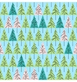 seamless pattern with fir trees isolated on vector image vector image
