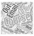 Selling and Teaching via Email Word Cloud Concept vector image vector image